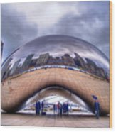 Chicago Cloud Gate Wood Print