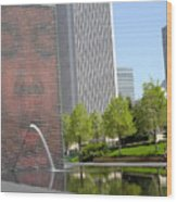 Chicago Crown Fountain 8 Wood Print