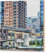 Chicago Cta Lake Street El In June Wood Print