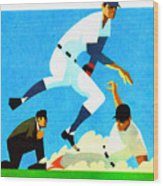 Chicago Cubs 1970 Program Wood Print