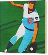 Chicago Cubs 1972 Official Program Wood Print