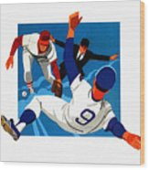 Chicago Cubs 1974 Program Wood Print