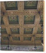 Chicago Cultural Center Staircase Ceiling Wood Print