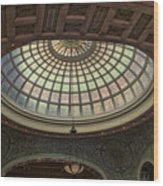Chicago Cultural Center Tiffany Dome 01 Wood Print