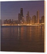 Chicago Dawn Wood Print