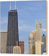 Chicago Downtown Wood Print by Dmitriy Margolin