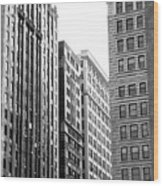 Chicago Faces Wood Print