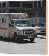 Chicago Fire Department Ems Ambulance 35 Wood Print