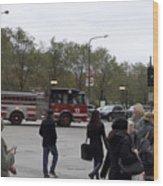 Chicago Fire Department Truck 13 Wood Print