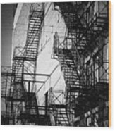 Chicago Fire Escapes 2 Wood Print