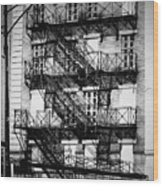 Chicago Fire Escapes 3 Wood Print