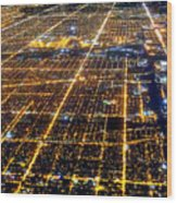 Chicago From Above 2 Wood Print