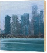 Chicago From The Navy Pier Wood Print