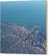 Chicago From Way Up Wood Print