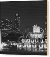 Chicago Grant Park Grayscale Wood Print