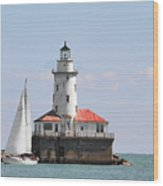 Chicago Harbor Lighthouse Wood Print by Christine Till