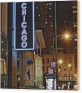 Chicago Hotel Wood Print
