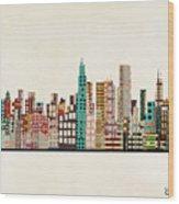 Chicago Illinois Skyline Wood Print