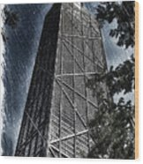 Chicago John Hancock In June Pa 01 Wood Print