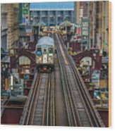 Chicago L Wood Print