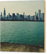 Chicago Lake Michigan Skyline Wood Print