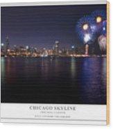 Chicago Lakefront Skyline Poster Wood Print by Steve Gadomski