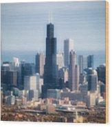 Chicago Looking East 02 Wood Print