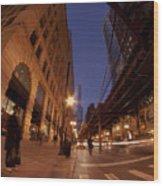 Chicago Loop At Dusk Wood Print