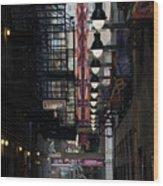 Chicago Loop, Goodman Theater Marguee Wood Print