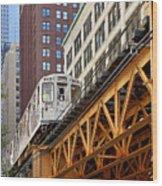 Chicago Loop 'l' Wood Print
