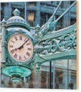Chicago Marshall Field State Street Clock Wood Print