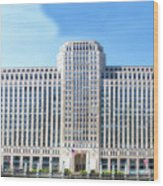 Chicago Merchandise Mart South Facade Wood Print