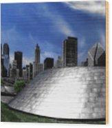 Chicago Millennium Park Bp Bridge Pa 01 Wood Print
