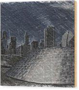 Chicago Millennium Park Bp Bridge Pa 02 Wood Print
