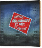 Chicago Milwaukee St. Paul And Pacific Wood Print