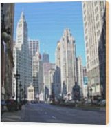 Chicago Miracle Mile Wood Print