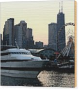 Chicago Navy Pier Wood Print