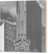Chicago - Old Water Tower Wood Print by Christine Till
