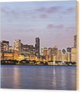 Chicago Panorama Wood Print
