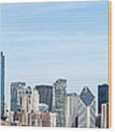 Chicago Panoramic Skyline High Resolution Picture Wood Print