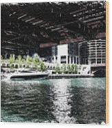 Chicago Parked On The River In June 03 Pa 01 Wood Print