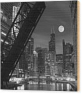 Chicago Pride Of Illinois Wood Print