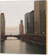 Chicago Rive Wood Print