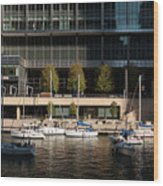 Chicago River Boats Wood Print
