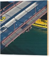 Chicago River Crossing Wood Print