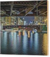 Chicago River Hd Wood Print
