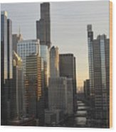 Chicago River View Wood Print