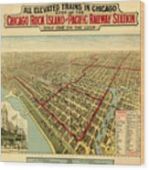 Chicago Rock Island And Pacific Railway Station Wood Print