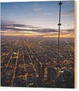 Chicago Skies Wood Print