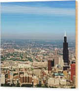 Chicago Skyline - 1990s Wood Print